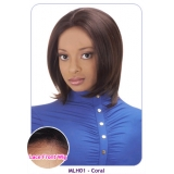 NEW BORN FREE 100% Human Magic Lace front Wig: MLH01 CORAL