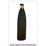 NEW BORN FREE European Silky Straight Bulk (100% Human) 18 inch