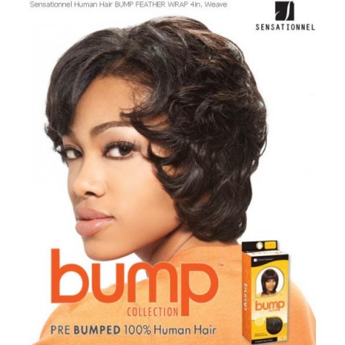 Sensationnel Bump Feather Wrap 4 Human Hair Weave Extensions