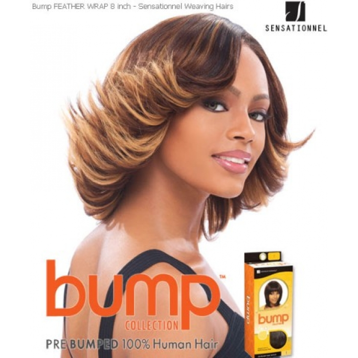 Sensationnel Bump Feather Wrap 8 Human Hair Weave Extensions