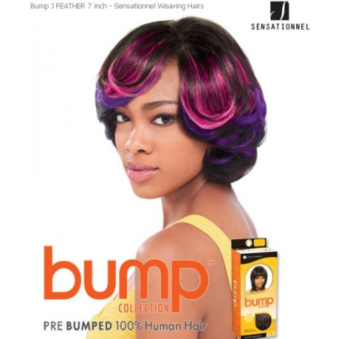 Sensationnel Bump J Feather 7 Human Hair Weave Extensions
