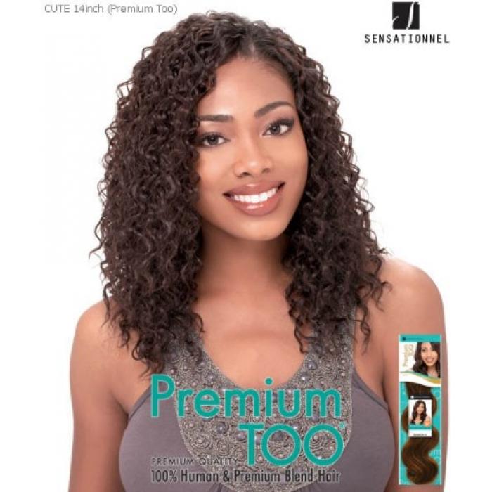 Sensationnel Premium Too Cute 14 Human Blend Weave Extensions