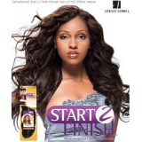 Sensationnel Start 2 Finish LOOSE SPIRAL 12 - Human Hair Weave Extensions