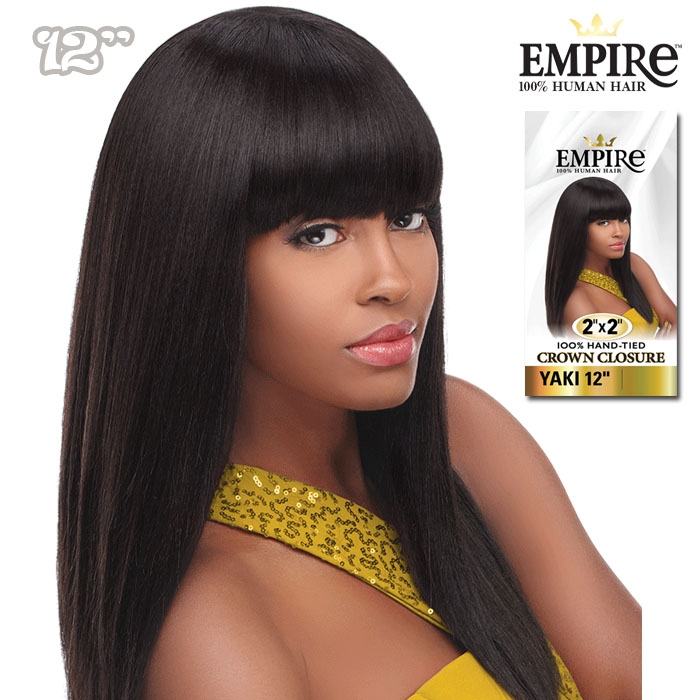 db82ba29de5 Sensationnel EMPIRE Human Hair Weave 2X2 Crown Closure Yaki 12