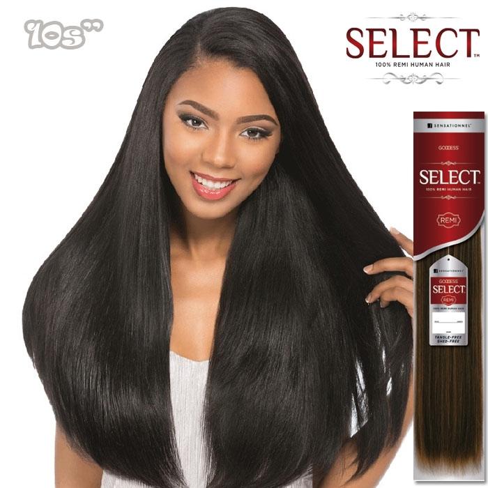 Sensationnel Goddess Select 100 Remi Human Hair Weave New Yaki 10s