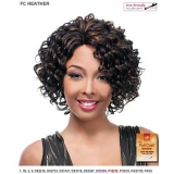 It's a wig Futura Synthetic Hand Tied Finish Full Wig - HEATHER