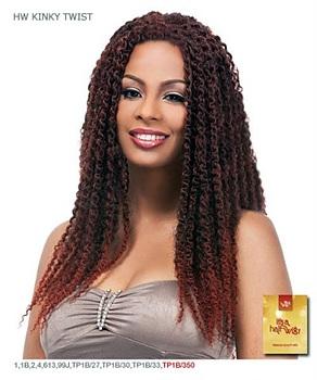 It's a wig Synthetic Half Wig - HW KINKY TWIST