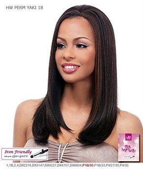 It's a wig Futura Synthetic Half Wig - PERM YAKI 18