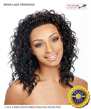 It's a wig Futura Synthetic Braid Lace Front Wig - BRAID TROPICANA