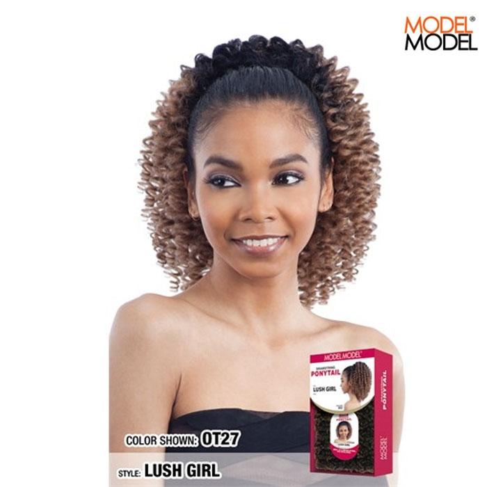 Model Model Synthetic Drawstring Ponytail Lush Girl