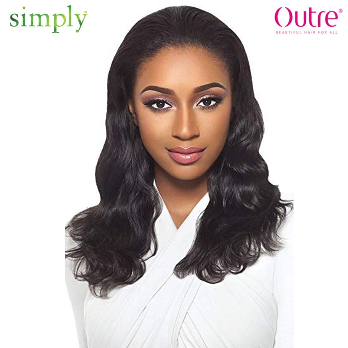 Outre Simply Quick Weave Brazilian Virgin Remy Human Hair Half Wig
