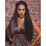 Vivica Fox Synthetic Natural Baby Hair Lace Front Braided Wig - LOVELY