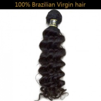 100% Virgin Brazilian Remy Hair Weft Deep Wave