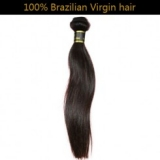 -100% Virgin Brazilian Remy Hair Weft Straight